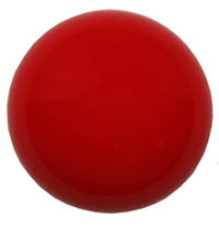 Czech 18mm Cabochon - CAB-R18-93190 Red Coral - 1 Cabochon
