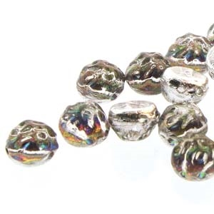 CCB0700030-28102 - Baroque 2-Hole 7mm Round Cabochon - Backlit Utopia - 12 Count