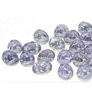 CCB8630010-26536 - Baroque 2-Hole Oval Cabochon 8x6mm - Backlit Violet Ice - 12 Count