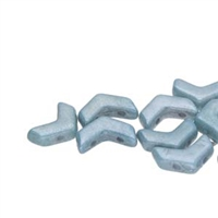 ChevronDuo : CHV14002010-14464 - Chalk Blue Luster - 30 Beads