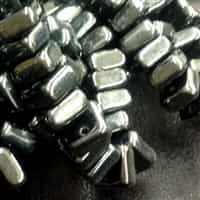 6mm 2 hole Gunmetal Chexx Beads - 4 count