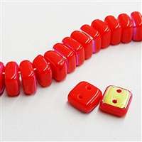 6mm Coral AB Chexx Beads - 4 count