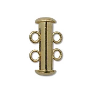Gold Plated Multi Strand 16mm 2 Strand Slide Clasps 5 Pack
