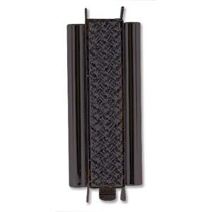 BeadSlide Cross Hatch 10mm x 29mm Black Slide Clasp
