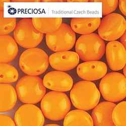 CND0893120 - PRECIOSA Candy 8mm Beads - Orange - 20 pcs
