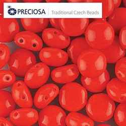 CND0893180 - PRECIOSA Candy 8mm Beads - Red - 20 pcs