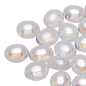 CNDOV101200030-28701 - PRECIOSA Candy Oval 10mm x 12mm Beads - Crystal AB - 10 pcs