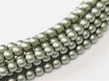 Pearl Coat Round 2mm : CP2-10269 - Pearl - Matte - Powder Green - 25 pcs