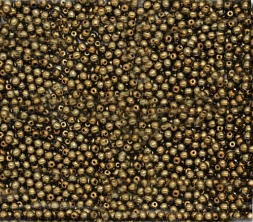 Pearl Coat Round 2mm : CP2-10270 - Pearl - Brass - 25 pcs