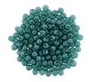 Pearl Coat Round 2mm : CP2-M25027 - Pearl - Matte - Teal - 25 pcs
