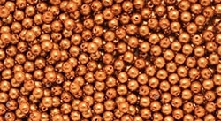 Pearl Coat Round 3mm : CP3-10016 - Pearl - Copper - 50 pcs