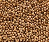 Pearl Coat Round 3mm : CP3-10146 - Pearl - Antique Gold - 50 pcs
