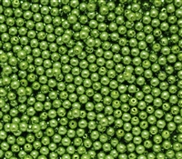 Pearl Coat Round 3mm : CP3-10158 - Pearl - Green Apple - 50 pcs