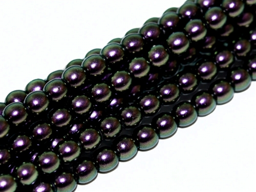 Pearl Coat Round 3mm : CP3-19014 - Pearl - Polynesian Jet Current - 50 pcs