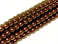Pearl Coat Round 3mm : CP3-19054 - Pearl - Polynesian Jet Copper Rose - 50 pcs