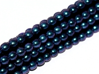 Pearl Coat Round 3mm : CP3-19074 - Pearl - Polynesian Jet Indigo Orchid - 50 pcs