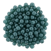 Pearl Coat Round 3mm : CP3-M25027 - Pearl - Matte - Teal - 50 pcs