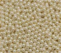 Pearl Coat Round 4mm : CP4-10001 - Old Lace - 50 pieces