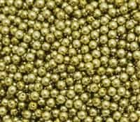 Pearl Coat Round 4mm : CP4-10079 - Old Green Gold - 50 pieces
