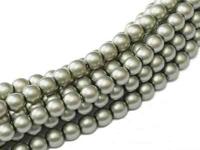 Pearl Coat Round 4mm : CP4-10269 - Powder Green - 50 pieces