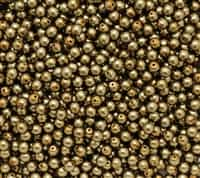 Pearl Coat Round 4mm : CP4-10270 - Brass - 50 pieces