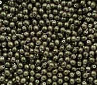 Pearl Coat Round 4mm : CP4-19034 - Polynesian - Jet Olive Mauve - 50 pieces