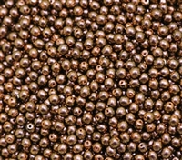 Pearl Coat Round 4mm : CP4-19054 - Polynesian - Jet Copper Rose - 50 pieces