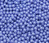 Pearl Coat Round 4mm : CP4-25015 - Baby Blue - 50 pieces