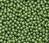 Pearl Coat Round 4mm : CP4-25034 - Olive - 50 pieces