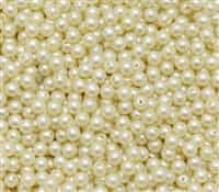 Pearl Coat Round 4mm : CP4-25039 - Cream - 50 pieces