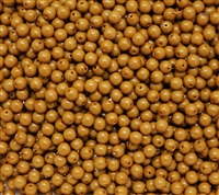 Pearl Coat Round 4mm : CP4-48193 - Fiesta Pearl Colors - Khaki - 50 pieces