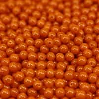 Pearl Coat Round 4mm : CP4-48885 - Happy Color Pears - Flame - 50 pieces