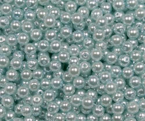 Pearl Coat Round 4mm : CP4-61403 -  Pearl - Baby Blue - 50 pcs