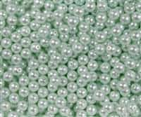 Pearl Coat Round 4mm : CP4-61501 - Pearl - Mint - 50 pieces