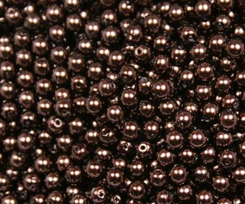 Pearl Coat Round 4mm : CP4-64705 - Pearl - Chocolate - 50 pcs
