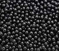 Pearl Coat Round 4mm : CP4-70409 - Black - 50 pieces