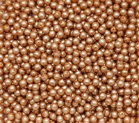 Pearl Coat Round 4mm : CP4-75415 - Tawny Satin - 50 pieces