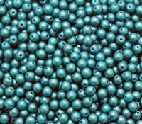 Pearl Coat Round 4mm : CP4-M25027 - Matte Teal - 50 pieces