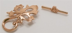 Copper Leaf Toggle Clasp