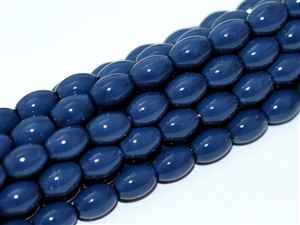 Pearl Coat Rice 6mm x 4mm : CRP6-48396 - Baltic  Blue - 25 Pearls