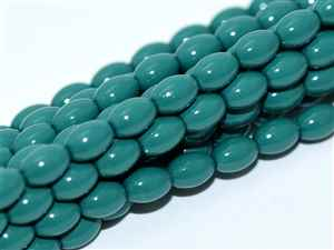 Pearl Coat Rice 6mm x 4mm : CRP6-48585 - Green Jade - 25 Pearls