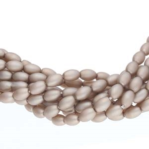Pearl Coat Rice 6mm : CRP6-70416M - Matte Champagne - 25 Pearls