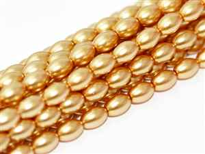 Pearl Coat Rice 6mm x 4mm : CRP6-70486 - Light Gold - 25 Pearls