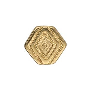 CYM-CHV-013048-GP - Malliadiko Bead Connector - 24K Gold Plate - 1 Piece