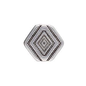CYM-CHV-013048-SP - Malliadiko Bead Connector - Antique Silver Plate - 1 Piece
