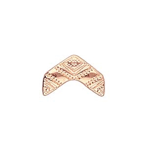 CYM-CHV-013051-RG - Koudouro - ChevronDuo Bead Substitute - Rose Gold Plate - 1 Piece