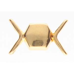CYM-CHV-013092-GP - Vorino Magnetic Clasp - 24K Gold Plate - 1 Clasp