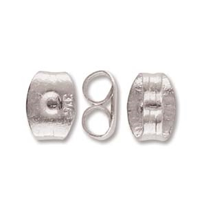 CYM-EB-300687-SP - Stainless Steel Earring Back - Antique Silver Plate - 1 Piece