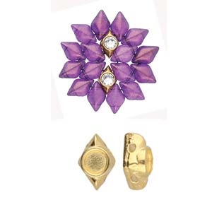 CYM-GD-012048-GP - Areti - GemDuo Bead Substitute - 24K Gold Plated -  1 Piece