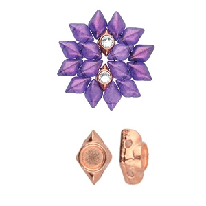 CYM-GD-012048-RG - Areti - GemDuo Bead Substitute - Rose Gold Plated -  1 Piece